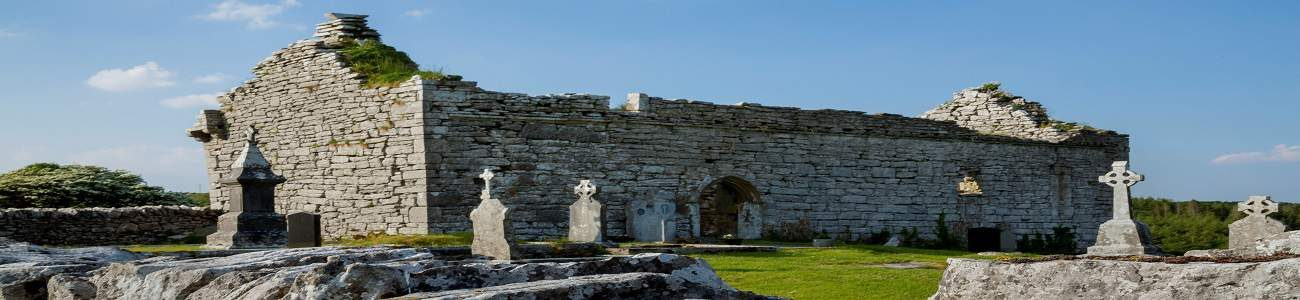 Carron Church ruins in the Burren