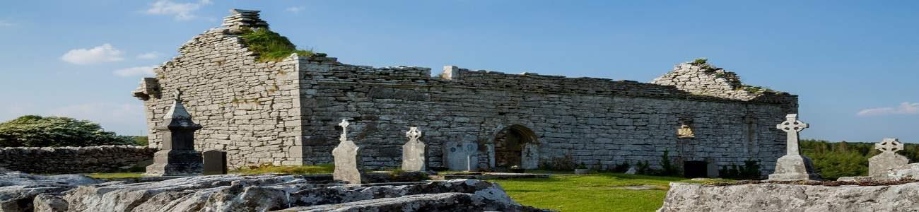 Carron Church ruins in the Burren