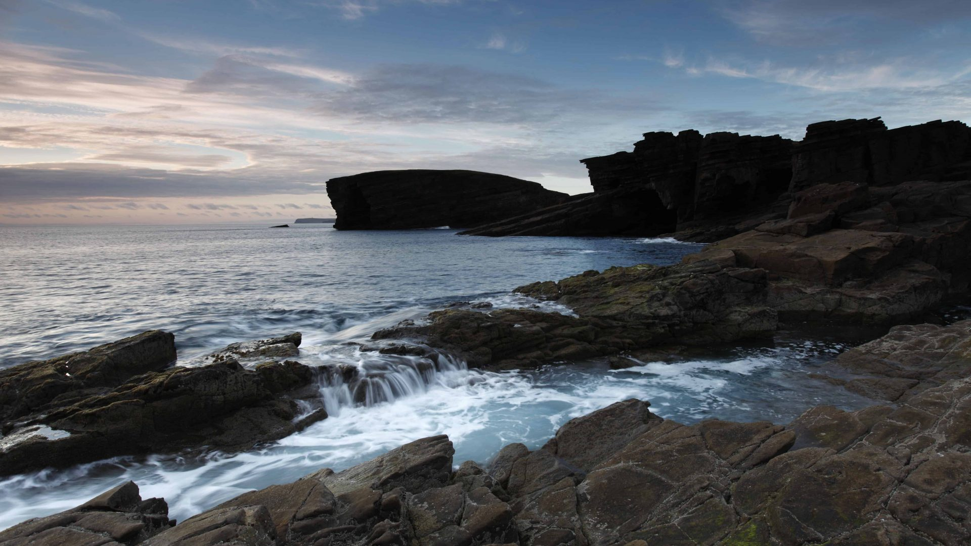 The coastline at Yesnaby at dusk, Mainland, Orkney.  Picture Credit: Paul Tomkins / VisitScotland ? ?????? The coastline at Yesnaby at dusk, Mainland, Orkney.  Picture Credit: Paul Tomkins / VisitScotland