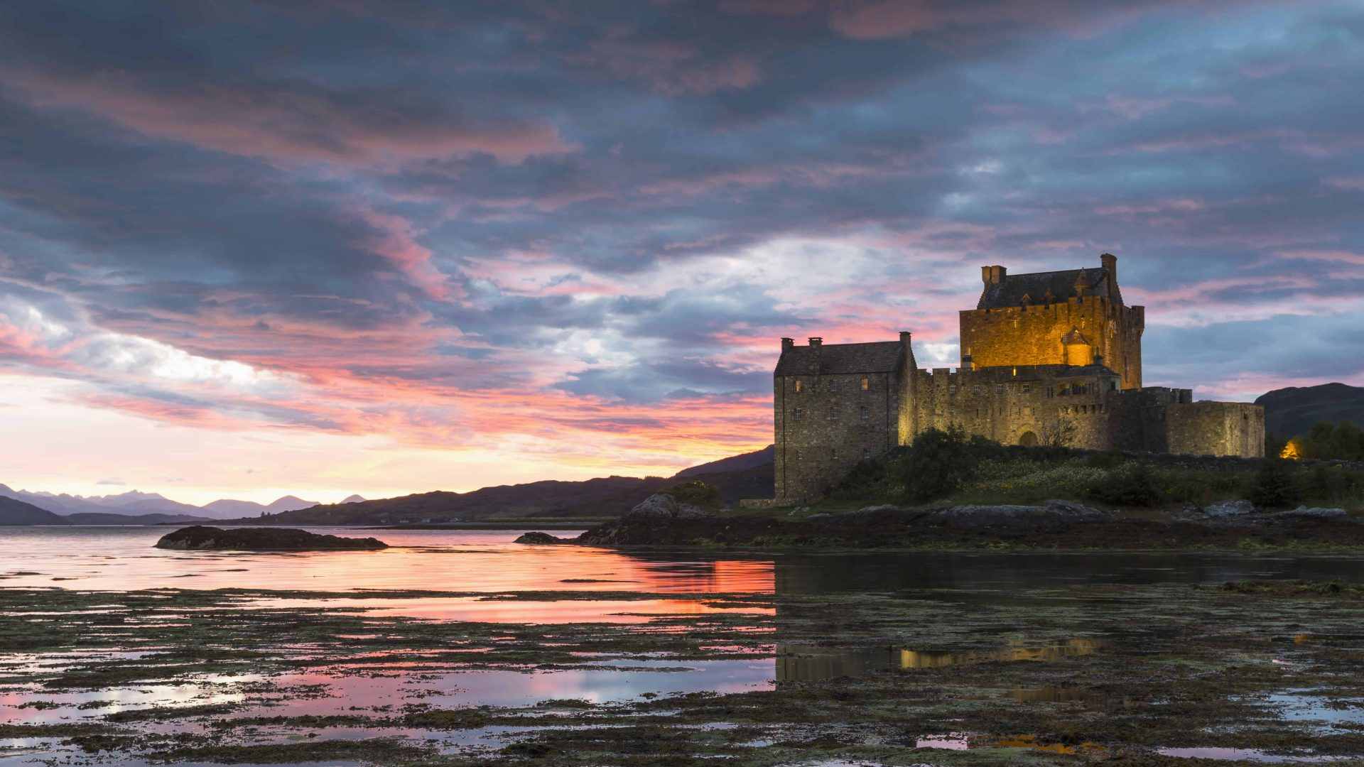 Eilean Donan Castle on Loch Duich at Dornie